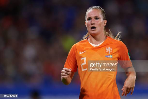 Desiree Van Lunteren of Netherlands reacts during the 2019 FIFA Women's World Cup France Semi Final match between Netherlands and Sweden at Stade de...