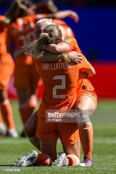 Desiree van Lunteren of Netherlands women, Kika van Es of Netherlands women during the FIFA Women's World Cup France 2019 quater final match between...