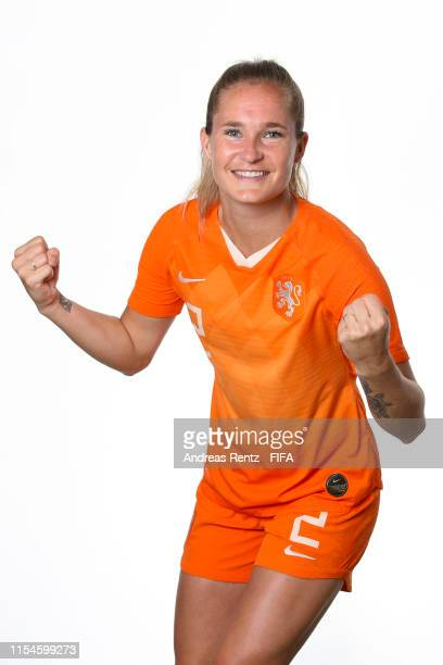 Desiree Van Lunteren of the Netherlands poses for a portrait during the official FIFA Women's World Cup 2019 portrait session at Hotel Novotel Le...