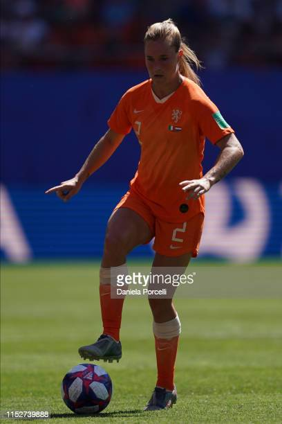 Desiree Van Lunteren of the Netherlandson the ball during the 2019 FIFA Women's World Cup France Quarter Final match between Italy and Netherlands at...