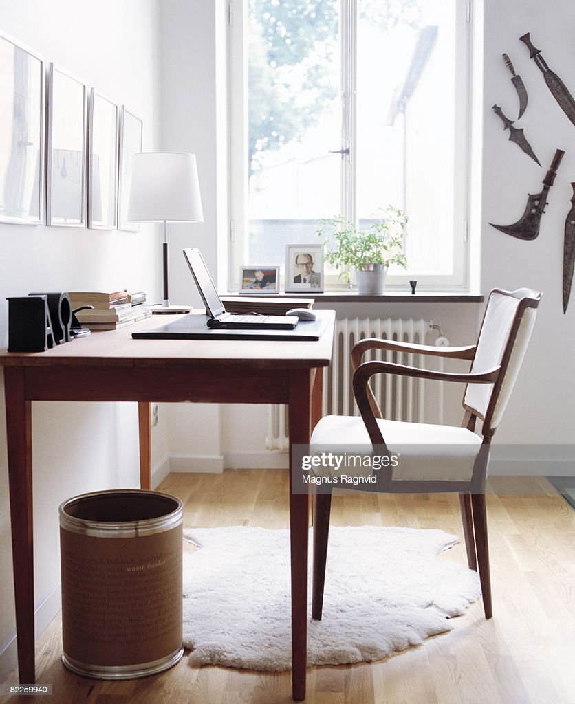 A desk and a chair Sweden. : Stock Photo