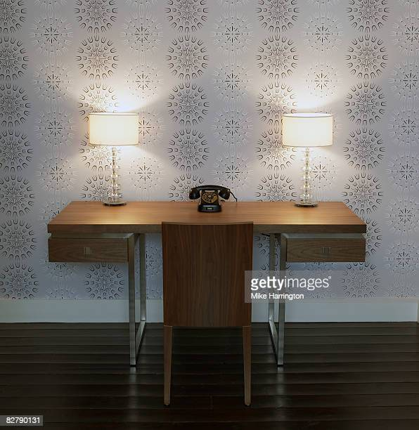 1970 desk and phone