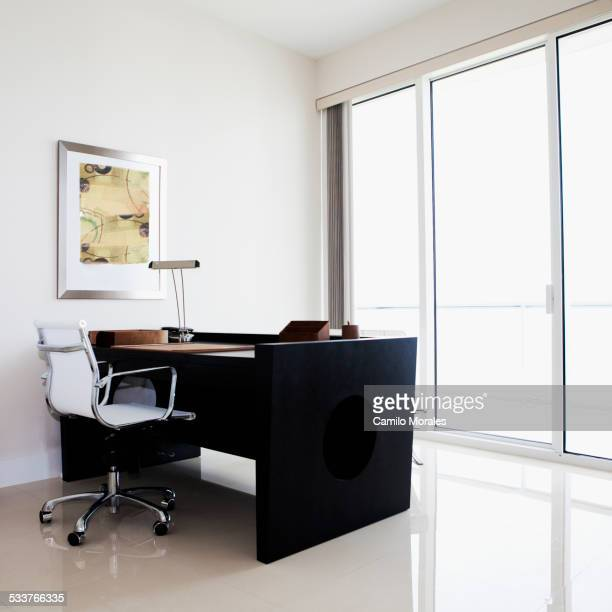 Desk and table in modern office