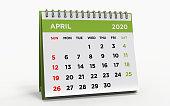 Desk calendar APRIL 2020