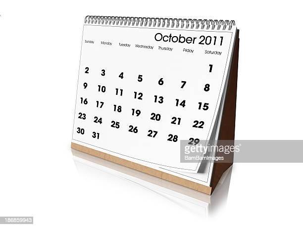 Desk Calendar October 2011