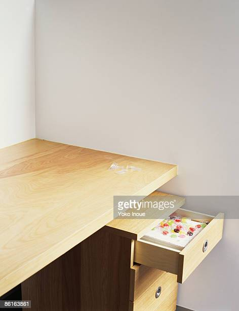 Desk drawer with candy