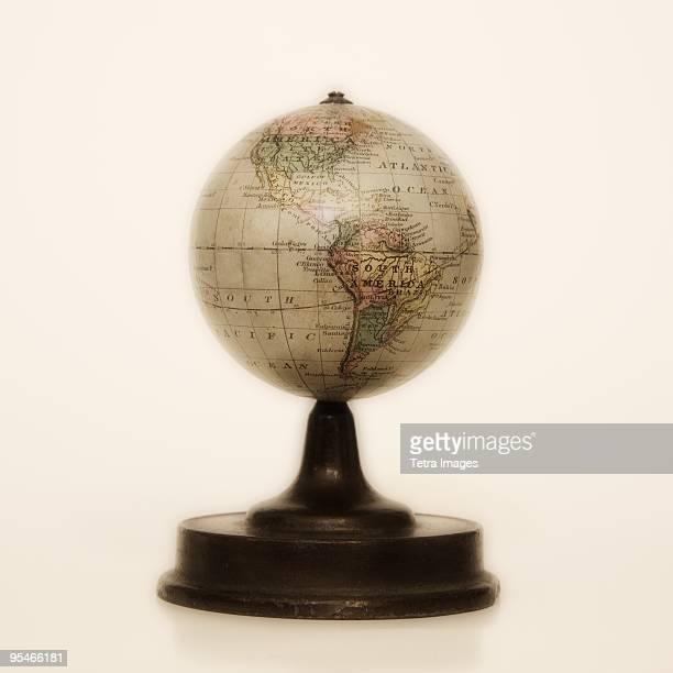 A desk globe