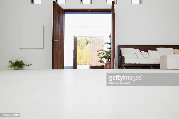 desk in modern house - low angle view stock pictures, royalty-free photos & images