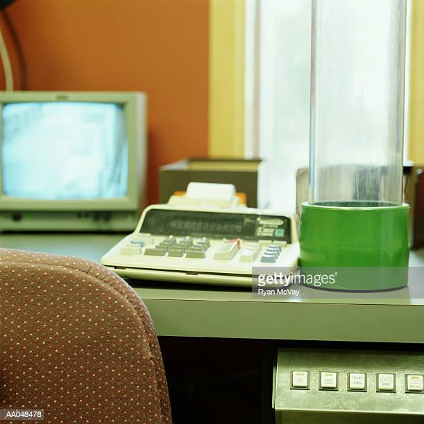 Desk of Drive Through Bank Teller