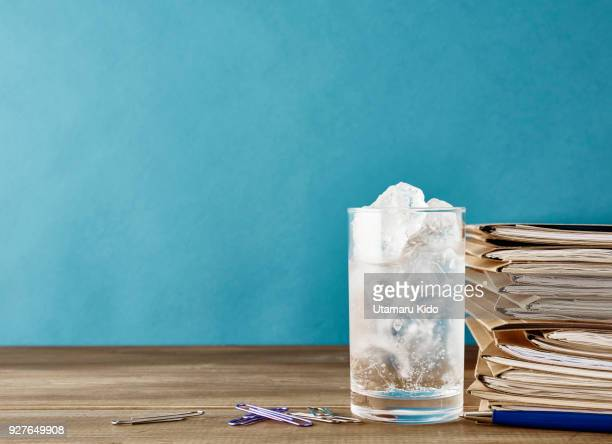 desk. - pops of bright color stock pictures, royalty-free photos & images