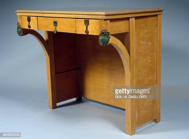 Desk piece of furniture for a lady's bedroom by Ugo Ceruti maple Italy 20th century Genoa The Wolfsonian Foundation
