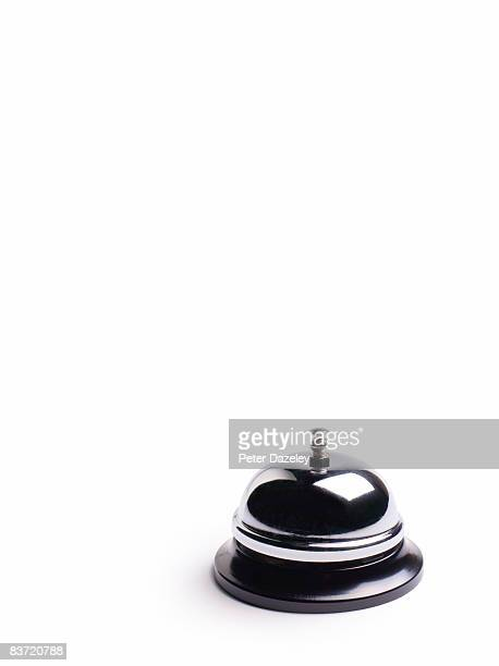 desk service bell on white background - bell stock pictures, royalty-free photos & images