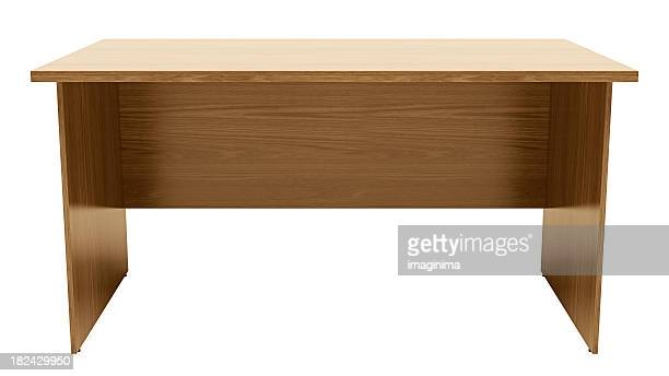 desk / table with clipping path - desk stock pictures, royalty-free photos & images