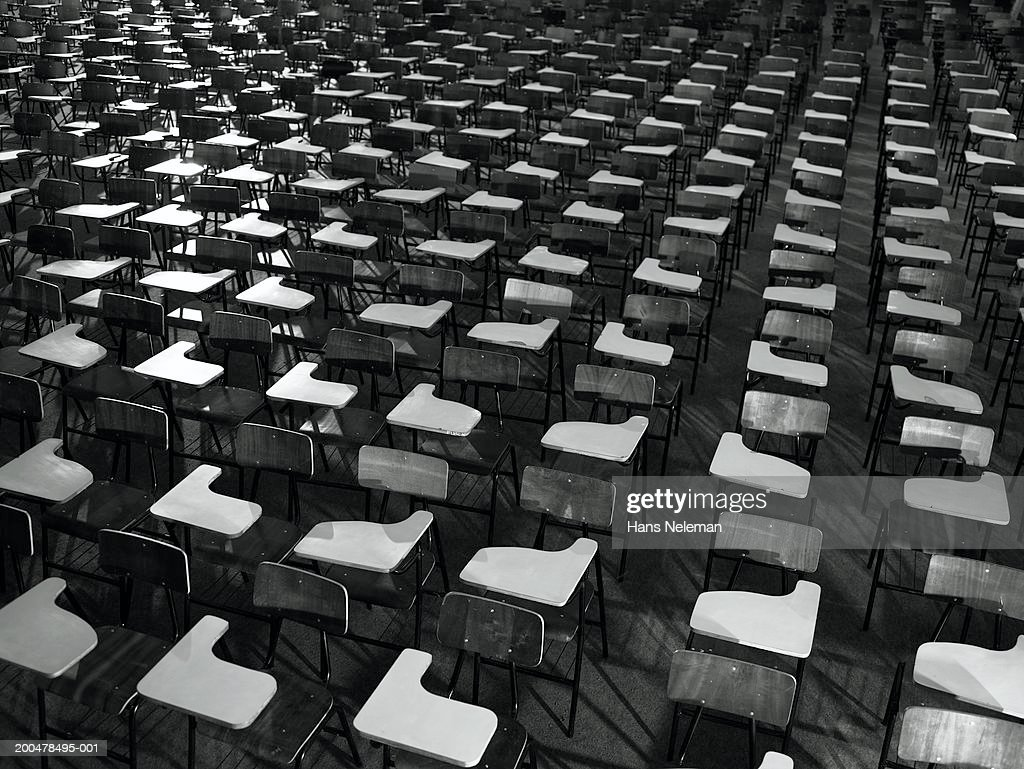 Pleasant Desks In Empty Lecture Hall Stock Photo Getty Images Pdpeps Interior Chair Design Pdpepsorg