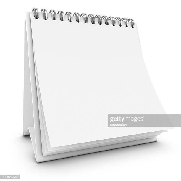 desktop blank calendar