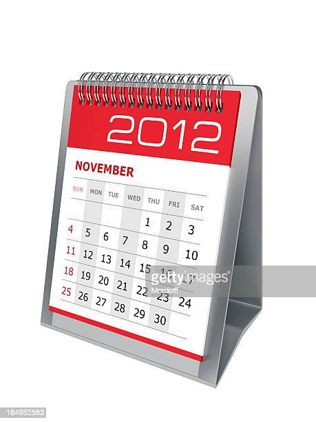 desktop calendar. november 2012 - united_states_house_of_representatives_elections_in_florida,_2012 stock pictures, royalty-free photos & images