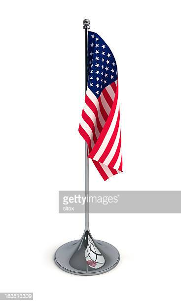 A desktop flag of the United States of America