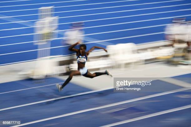 Desleigh Owusu of NSW competes in her U17 Womens Triple Jump event during day four of the 2017 Australian Athletics Championships at Sydney Olympic...