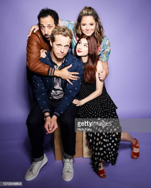 Desmin Borges Chris Geere Kether Donohue and Aya Cash of FX's 'You're the Worst' pose for a portrait during the 2018 Summer Television Critics...