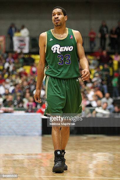 Desmon Farmer of the Reno Bighorns takes a break from the action during the D-League game against the Utah Flash on December 11, 2009 at the McKay...