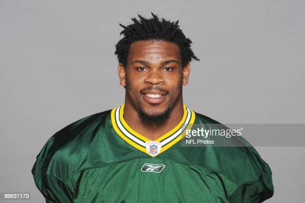 Desmond Bishop of the Green Bay Packers poses for his 2009 NFL headshot at photo day in Green Bay Wisconsin