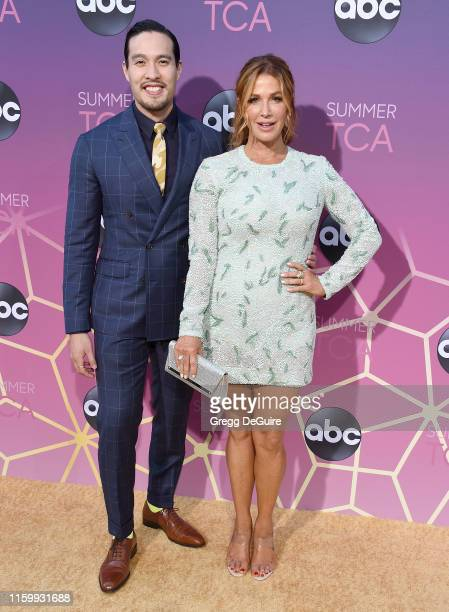 Desmond Chiam and Poppy Montgomery arrive at ABC's TCA Summer Press Tour Carpet Event on August 5, 2019 in West Hollywood, California.