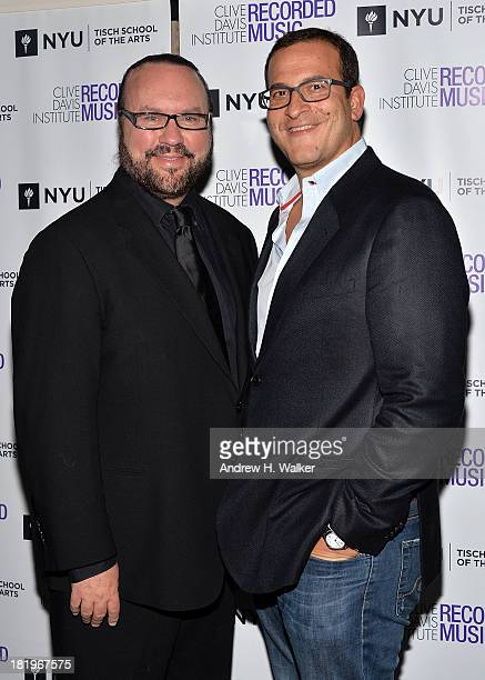 Desmond Child and Doug Davis attend the Clive Davis Institute Of Recorded Music 10th Anniversary Party at Gallow Green at the McKittrick Hotel on...