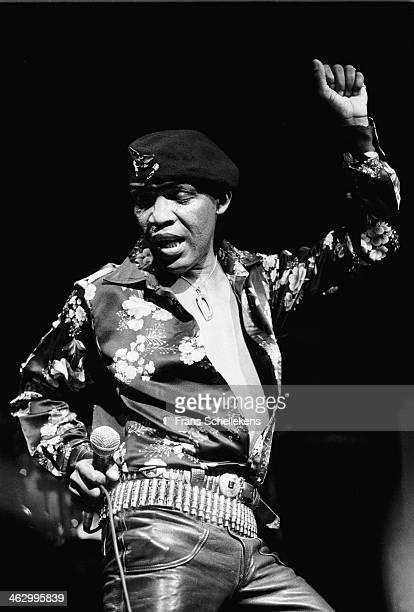 Desmond Dekker, vocal, perform at the Melkweg on 26th August 1990 in Amsterdam, the Netherlands.