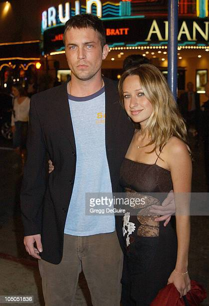Desmond Harrington and Jennifer Meyer during Ghost Ship Los Angeles Premiere at Mann Village Theatre in Westwood California United States