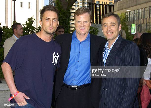 Desmond Harrington Jerry Lambert and Fred Goss during 2005/2006 ABC UpFront at Lincoln Center in New York City New York United States