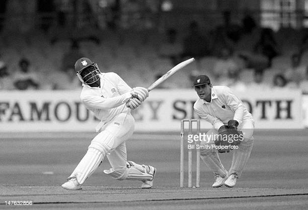 Desmond Haynes batting for Middlesex during their County Championship match against Somerset at Lord's cricket ground in London 26th June 1992 The...