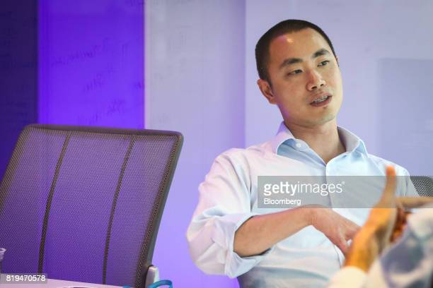 Desmond Lun founder of Taaffeite Capital Management LLC speaks during an interview in New York US on Friday June 2 2017 Lun is a new kind of quant...