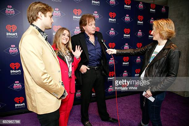 Desmond Money Jesse Money and musician Eddie Money are interviewed at the iHeart80s Party 2017 at SAP Center on January 28 2017 in San Jose California