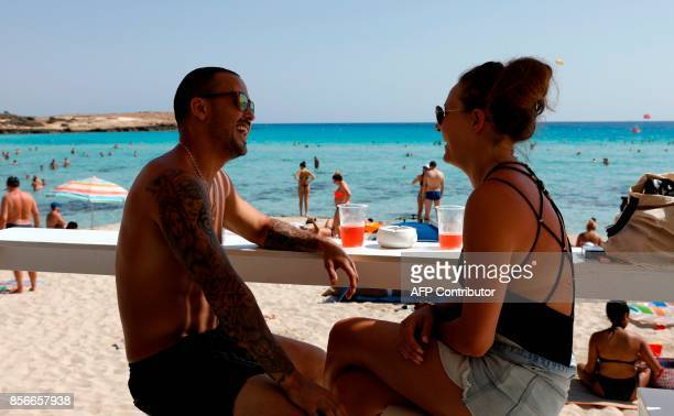 Desmond Morland and Katie Smith British tourists whose flights were suspended following the financial collapse of British charter carrier Monarch...