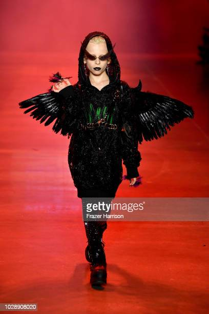 Desmond Napoles walks the runway at the Disney Villains x The Blonds NYFW Show during New York Fashion Week The Shows at Gallery I at Spring Studios...