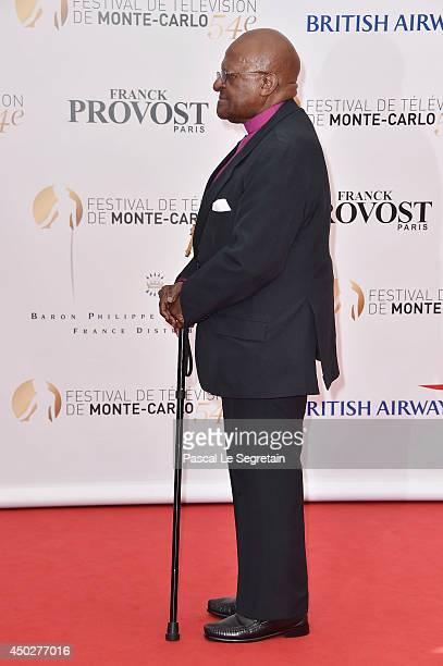 Desmond Tutu attends a photocall during the 54th MonteCarlo Television Festival at Grimaldi Forum on June 8 2014 in MonteCarlo Monaco