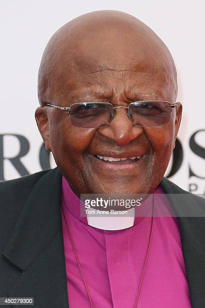 Desmond Tutu attends the 'Children of the Light' World Premiere at the Grimaldi Forum on June 8 2014 in MonteCarlo Monaco