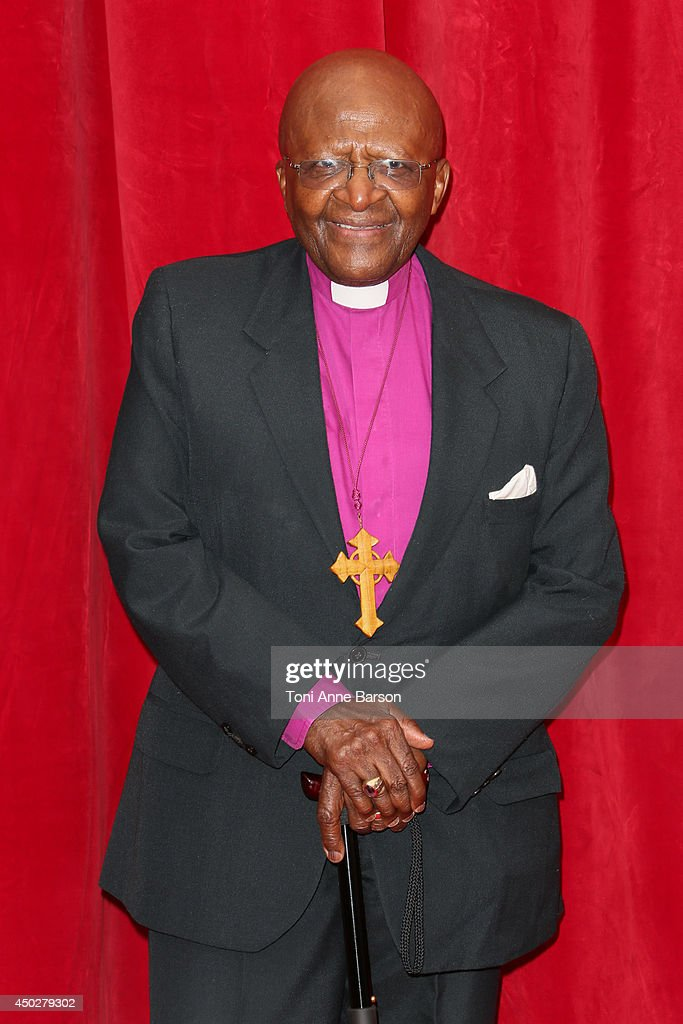 Desmond Tutu attends the 'Children of the Light' World Premiere at the Grimaldi Forum on June 8, 2014 in Monte-Carlo, Monaco.