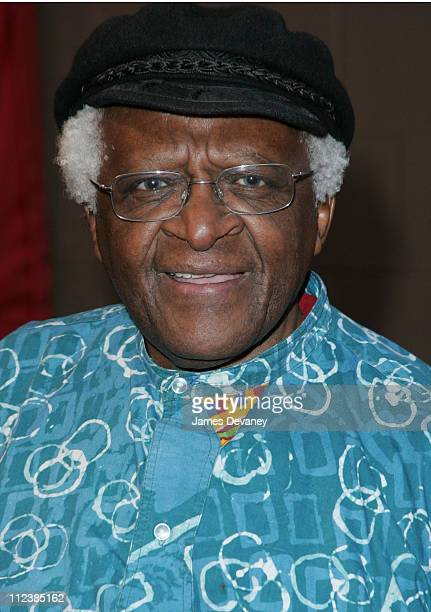 Desmond Tutu during 3rd Annual Tribeca Film Festival Cry The Beloved Country Premiere at Tribeca Performing Arts Center in New York City New York...
