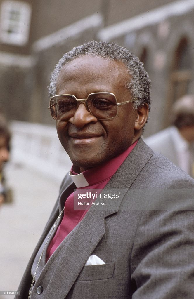 Desmond Tutu, South African Anglican bishop of Johannesburg, critic of apartheid and winner of the Nobel Prize for Peace in 1984.