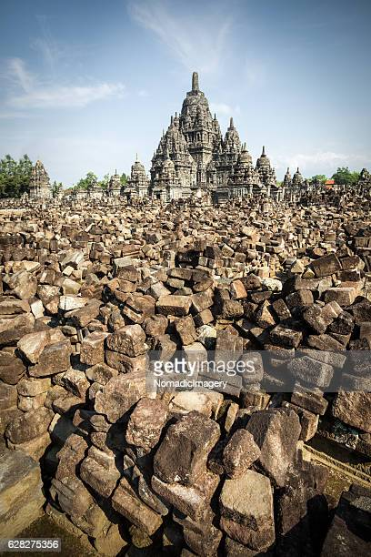Desolate ancient temple in the rubble