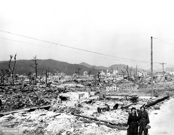 Desolation and dilapidated structures in Hiroshima following the atomic bombing of Japan 1945 Image courtesy US Department of Energy