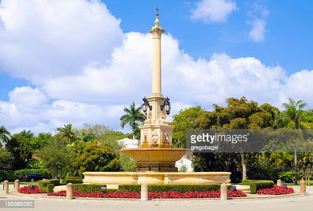 desoto fountain in coral gables, fl - coral gables stock pictures, royalty-free photos & images