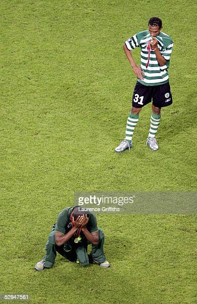 Despair for Liedson of Sporting Lisbon following the UEFA Cup Final between CSKA Moscow and Sporting Lisbon at the Jose Alvalade Stadium on May 18,...