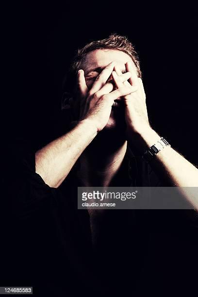 Despair Man. Color Image