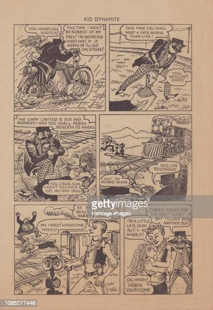 Desperate Desmond' cartoon strip circa 1955 The dastardly Desmond plots a dreadful end for the heroine but she is saved by Handsome Harry From Kid...