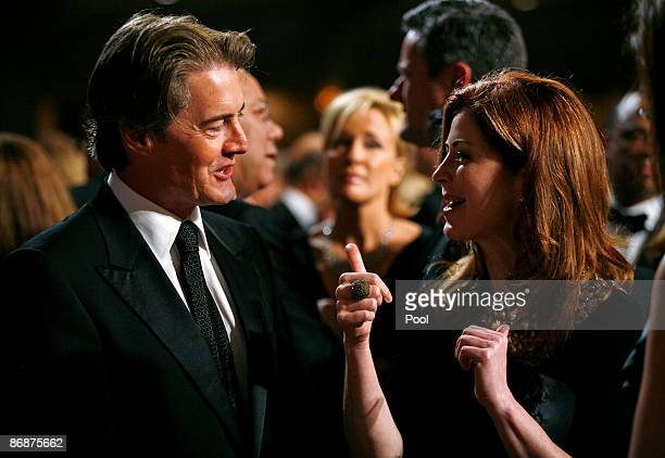 Desperate Housewives actors Dana Delany and Kyle MacLachlan chat prior to the annual White House Correspondents' Association gala dinner May 9 2009...
