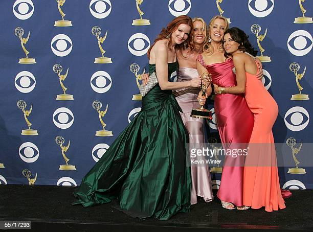 'Desperate Housewives' actresses Marcia Cross Nicollette Sheridan winner of Lead Actress in a Comedy Series Felicity Huffman and actress Eva Longoria...