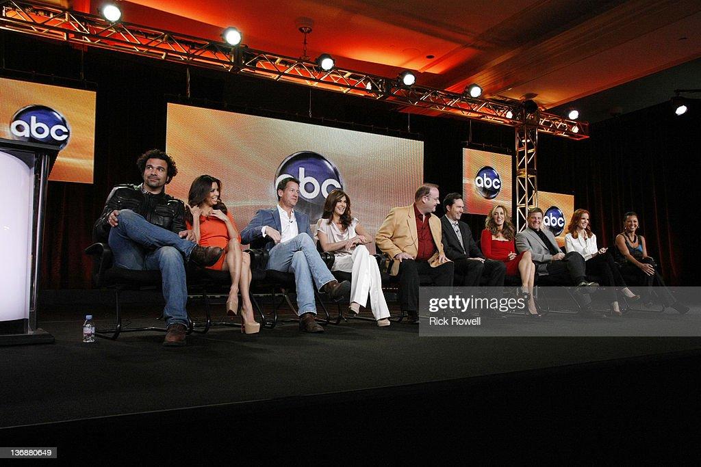 TOUR 2012 - 'Desperate Housewives' Session - The cast and producers of ABC's 'Desperate Housewives' addressed the press at Disney/ABC Television Group's Winter Press Tour 2012. RICARDO ANTONIO CHAVIRA, EVA LONGORIA, JAMES DENTON, TERI HATCHER, MARC CHERRY (CREATOR/EXECUTIVE PRODUCER), BOB DAILY (EXECUTIVE PRODUCER), FELICITY
