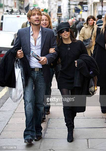 Desperate Housewives Star Eva Longoria And Celebrity Hairstylist Ken Paves Shopping In Londons Bond Street